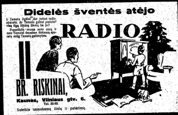 "epaveldas.lt nuotr. /Radijo aparato reklama ""Lietuvos aide"""