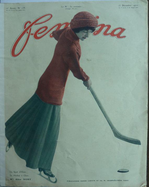 Wikipedia Commons nuotr./Žurnalo Femina viršelis, 1910 m.