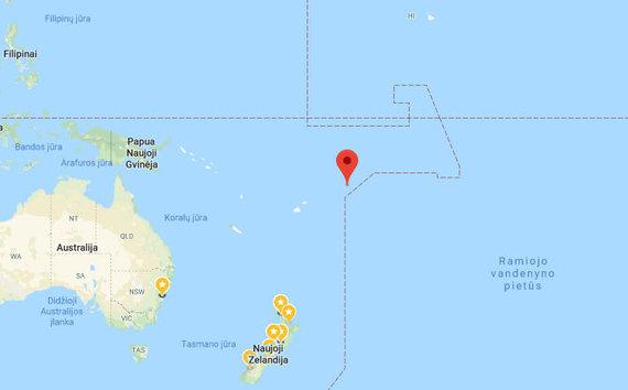 Samoa vieta pasaulio žemėlapyje