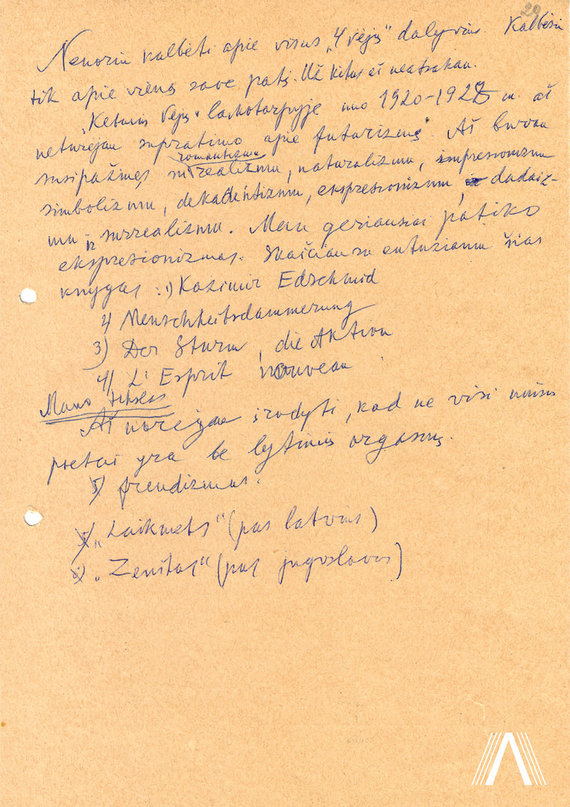 """archivesofculture.com nuotr./L. Šmerauskienės sudaryto Salio Šemerio atsiminimų apie """"Keturių vėjų"""" laikotarpį rinkinio fragmentai 1982-06-01"""