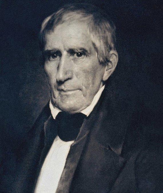 Wikimedia Commons nuotr./Williamas Henry Harrisonas per savo inauguraciją