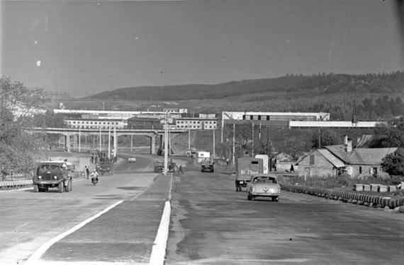 LCVA, 0-025743-01/Automagistralės Vilnius-Kaunas pradžia Vilniuje, 1966 m.