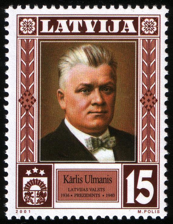 Wikimedia Commons nuotr./2001 m. pašto ženklas, skirtas K.Ulmaniui
