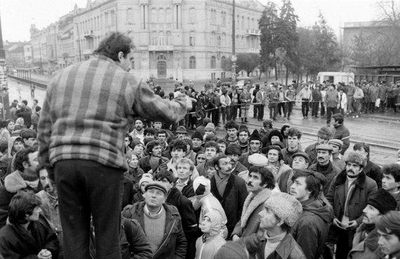 Wikimedia Commons nuotr./Protestuotojai Timišoaroje
