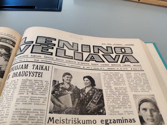 """Ugniaus Antanavičiaus nuotr./Kitos dienos """"Lenino vėliavos"""" viršelis"""