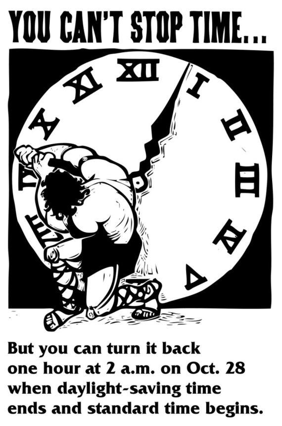 en.wikpedia.org nuotr./Laiko persukimą primenanti reklama