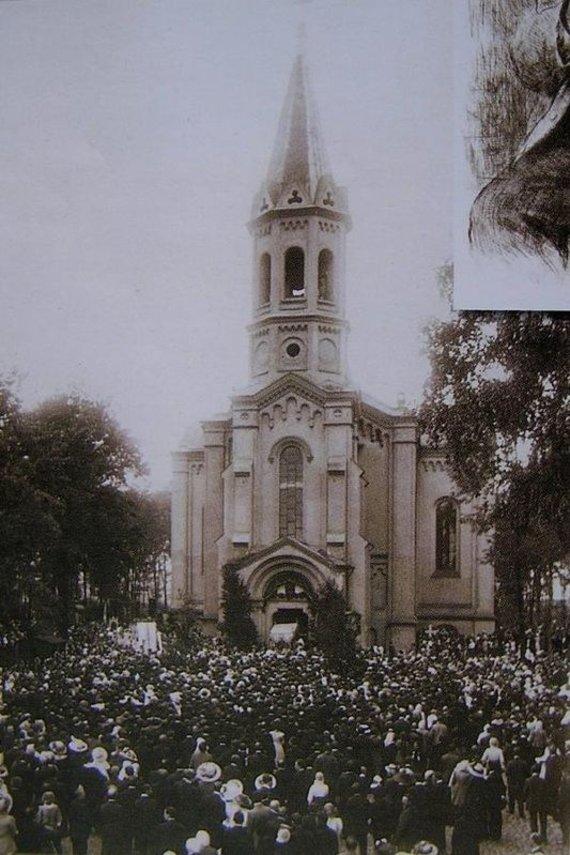 matulionis.info nuotr./Vyborgo bažnyčia Peterburge, nugriauta XX a. IV dešimtmetyje