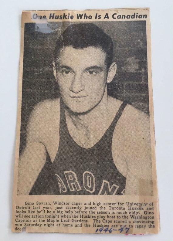 nbpa.com/Asmeninio G.Sovrano archyvo nuotr./Laikraščio iškarpa, mininti Gino Sovraną