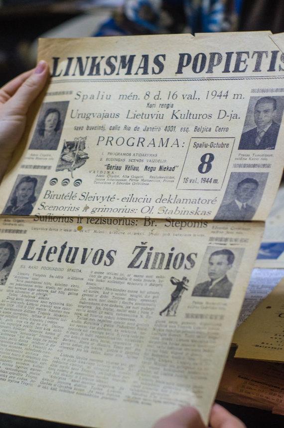 Austėjos Milvydaitės asmeninio archyvo nuotr. /Seni Urugvajaus lietuvių laikraščiai