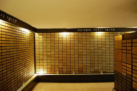 Izraelio ambasados nuotr./Vilniuje per Holokaustą pražuvusių žydų atminimo kambarys Beit Vilna pastate