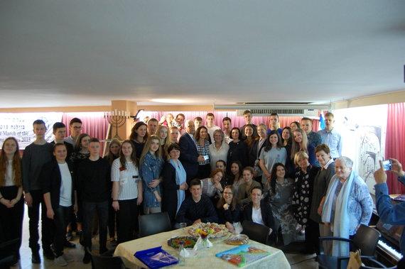 Izraelio ambasados nuotr./Lietuvos moksleivių susitikimas su Izraelio litvakais