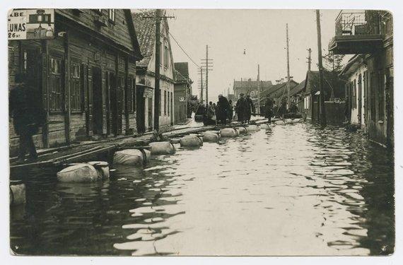 epaveldas.lt nuotr./Potvynis Kaune 1931 m.