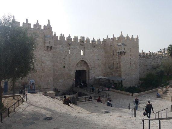 Ugniaus Antanavičiaus nuotr. /Damasko vartai Jeruzalėje