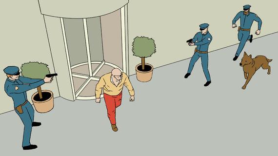 Skirmanto Malinausko iliustracija/2008 metų rugpjūtį Naujosios Zelandijos policija sulaikė Ronaldą Terrence'ą Browną