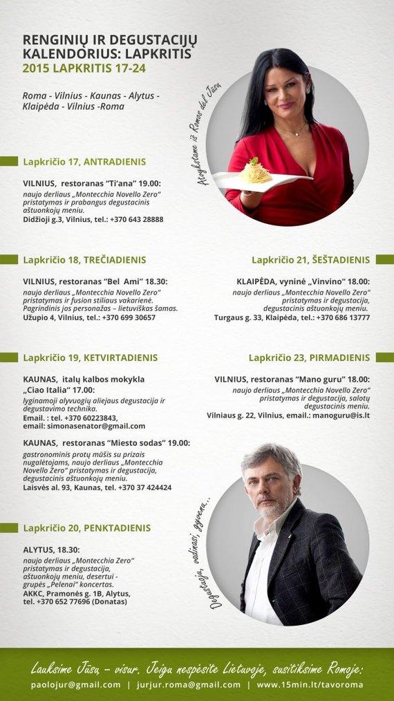 Paulius ir Jurga Jurkevičiai organizuoja gastronominių renginių turą