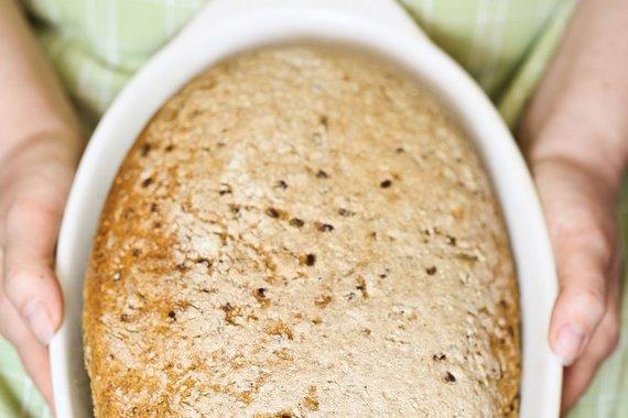 Aidos Chlebinskaitės nuotr./Speltų miltų duona su sėklomis