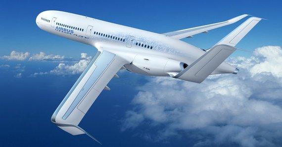 Airbus nuotr./Airbus 2050 lėktuvo konceptas