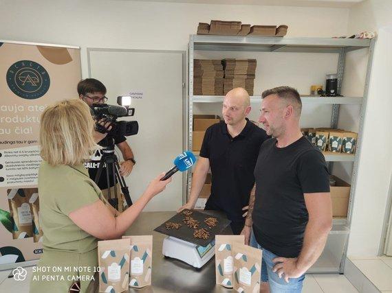 Interviu su Donatu ir Mariumi Glušauskais. Asmeninio archyvo nuotr.