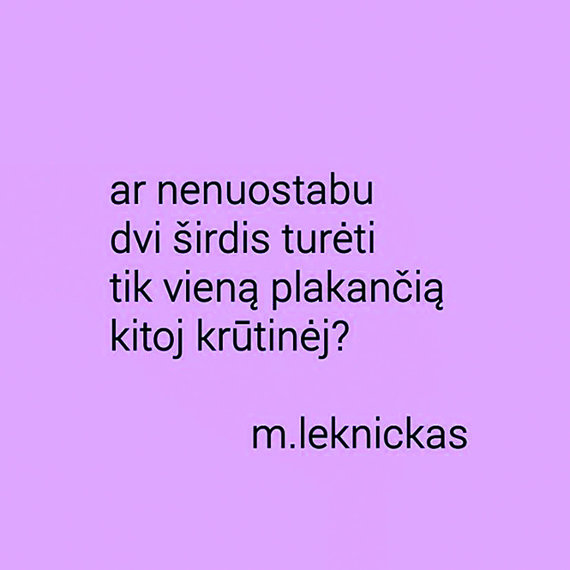 Mantvydo Leknicko eilės