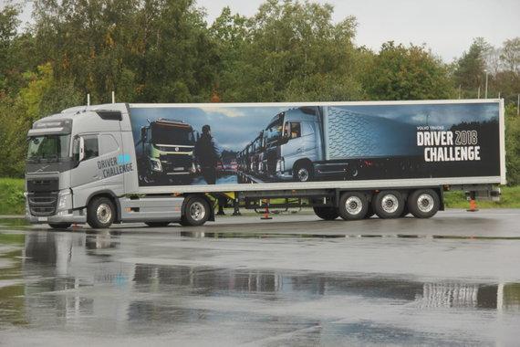 """Tomo Markelevičiaus / 15min nuotr./""""Volvo Trucks Driver Challenge 2018"""" varžybų įžanga"""