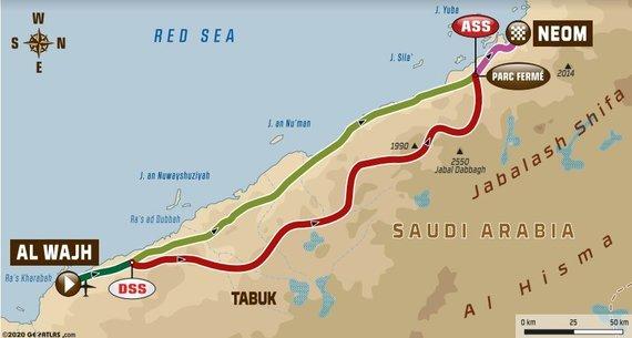 Antrosios Dakaro dienos maršrutas