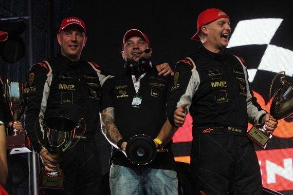 """Tomo Markelevičiaus nuotr./""""ENEOS 1006 km"""" lenktynių apdovanojimų akimirka"""