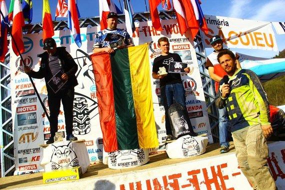 Tomo Markelevičiaus / 15min nuotr./ Ant podiumo iš kairės: Paulius Vaišneideris, Mindaugas Veiveris, Eric Laudeley