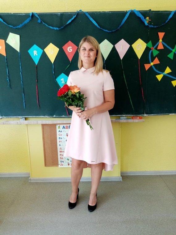 Aurelija Vainoriūtė Rugsėjo 1osios šventės metu