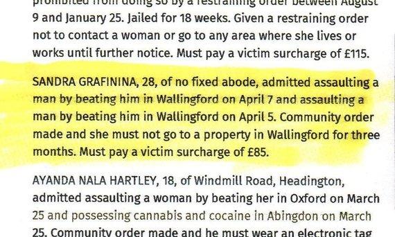 """""""Oxford mail"""" žinutė apie S.Grafininos vairavimą išgėrus"""