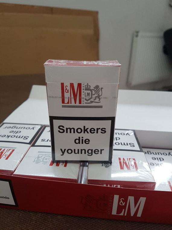 Muitinės nuotr/Kryžkalnyje muitininkai sulaikė rūkalų už 1,5 milijono