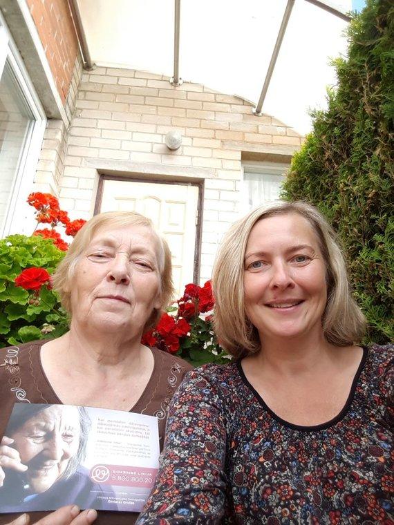 Asmeninio archyvo nuotr./A.Jurėnaitė (dešinėje) su teta Aldona