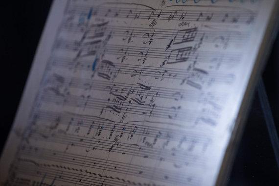 """AFP/""""Scanpix"""" nuotr./Gustavo Mahlerio simfonijos rankraštis"""