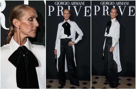 """""""Scanpix""""/""""SIPA"""" nuotr./Celine Dion įvaizdis """"Giorgio Armani Privé"""" kolekcijos pristatyme"""