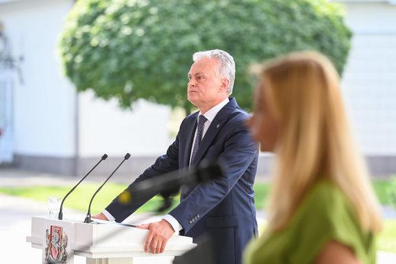 LR Prezidento kanceliarijos/R.Dačkaus nuotr./Prezidento Gitano Nausėdos metinė spaudos konferencija