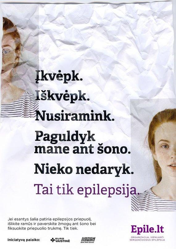 Organizatorių nuotr./Atmintinė, kaip padėti epilepsijos ištiktam žmogui.