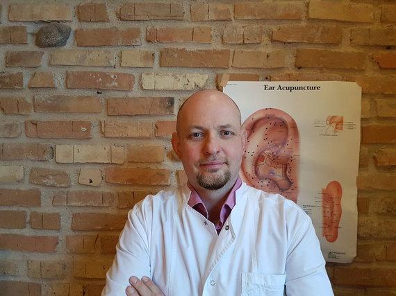 Asmeninio archyvo nuotr./Gydytojas refleksoterapeutas Marius Marcinkevičius