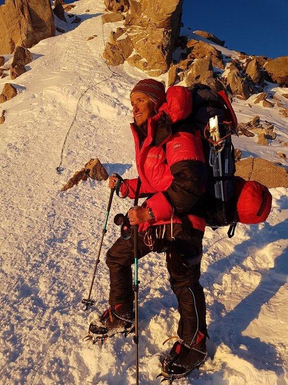 Asmeninio archyvo nuotr./Nusileidimas nuo Denalio – aukščiausios Šiaurės Amerikos viršukalnės