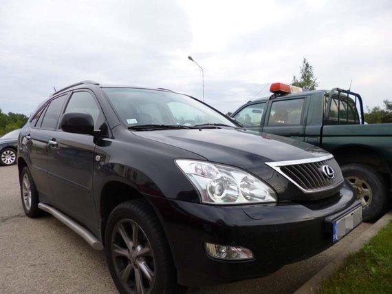 VSAT nuotr./Sulaikytų latvių automobilis