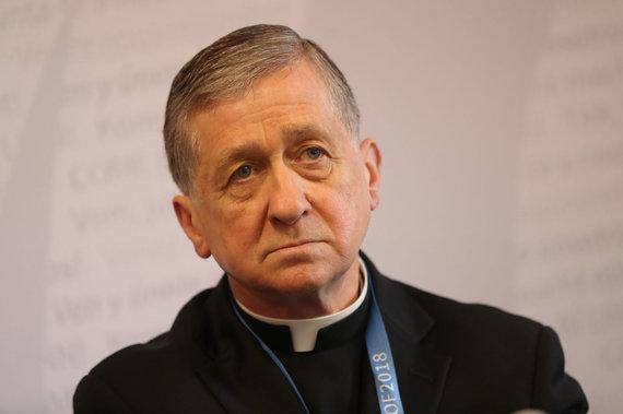 """""""Scanpix""""/""""PA Wire""""/""""Press Association Images"""" nuotr./Čikagos arkivyskupas, kardinolas Blase'as Cupichas"""