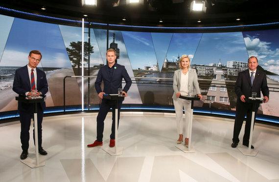 """AFP/""""Scanpix"""" nuotr./Švedijos politinių partijų lyderių debatai"""