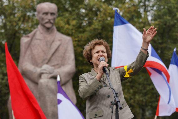 """""""Scanpix"""" nuotr./Latvijos rusų sąjungos lyderė Tatjana Ždanoka"""
