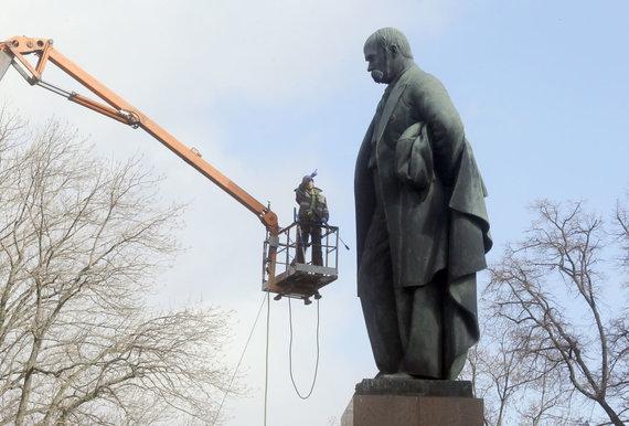 """Scanpix""/AP nuotr./Paminklas T.Ševčenkai Kijeve"