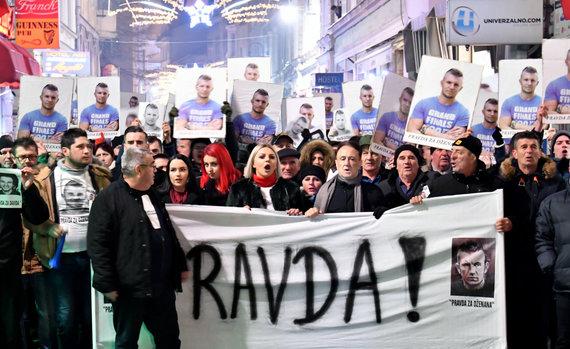 "AFP/""Scanpix"" nuotr./Protestas Sarajeve"