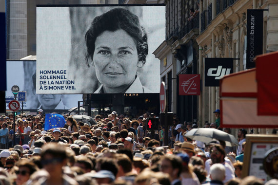 """""""Reuters""""/""""Scanpix"""" nuotr./Aušvice išgyvenusi Simone Veil mirė 2017 metais"""