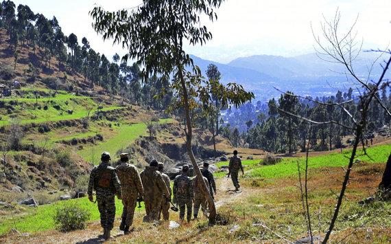 """""""Scanpix""""/AP nuotr./Pakistano kariai Kašmyre"""