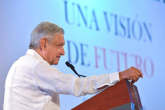 """Reuters""/""Scanpix"" nuotr./Meksikos prezidentas Andresas Manuelis Lopezas Obradoras"
