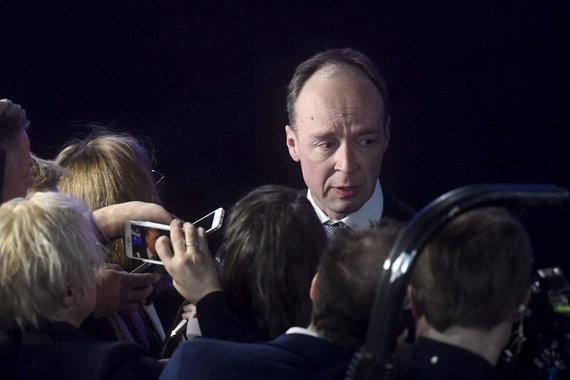 """AFP/""""Scanpix"""" nuotr./Suomių partijos lyderis Jussi Halla-aho"""