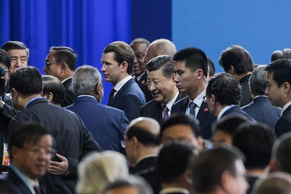 "AFP/""Scanpix"" nuotr./Xi Jinpingas svarbiame forume Pekine"