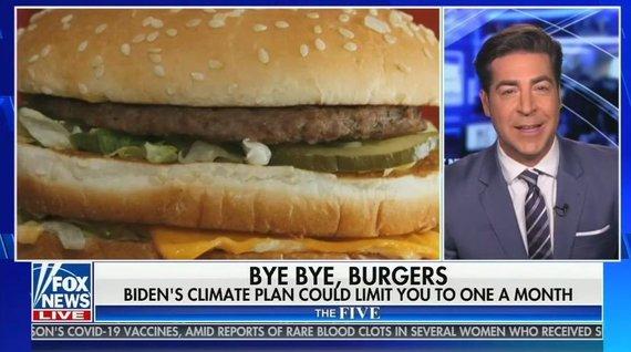"""""""Twitter"""" nuotr./""""Fox News"""" gąsdina JAV, neva J.Bidenas uždraus mėsainius"""