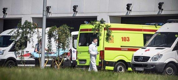 """AFP/""""Scanpix"""" nuotr./Maskvos ligoninėse jau pradeda trūkti vietų"""